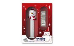 PAMP 5-gm Silver PEZ Wafers 6-pc Set w/Snowman Dispenser