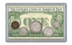 5PC 1864-1938 1C-50C NO MOTTO 3X5 SET W/1935 $1 NM