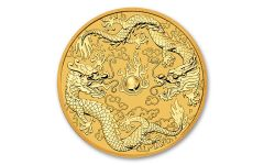 2020 Australia $100 1-oz Gold Double Dragon BU