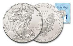 2020 $1 1-oz American Silver Eagle BU Baby Boy Card