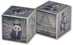 2019 China 20-oz Silver 150th Anniversary Panda Cube