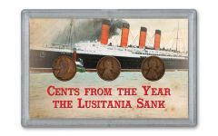 3PC 1915-PDS 1 CENT LINCOLN LUSITANIA VG-F 3X5