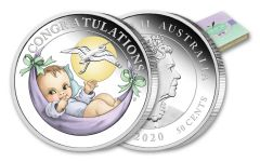2020 Australia 50 Cents 1/2-oz Silver Newborn Colorized Proof