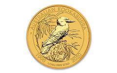 2020 Australia $15 1/10-oz Gold 30th Anniversary Kookaburra Gem BU