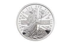 2020 Great Britain £2 1-oz Silver Britannia Proof