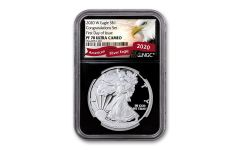 2020-W $1 1-oz Silver American Eagle Congratulations Proof NGC PF70UC First Day of Issue w/Black Core & Eagle Label