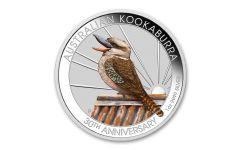 2020 Australia $1 1-oz Kookaburra Berlin WMF Show Colorized BU