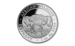 2020 Somalia 100 Shillings 1-oz Silver Elephant BU