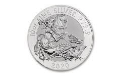 2020 Great Britain £10 10-oz Silver Valiant Saint George BU