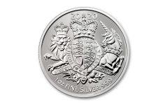 2020 Great Britain £2 1-oz Silver Royal Arms Coin BU