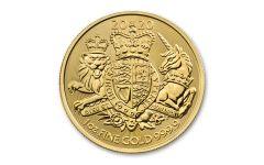 2020 Great Britain £100 1-oz Gold Royal Arms Coin BU