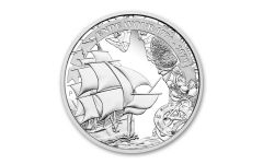 2020 Australia $1 1-oz Silver Voyage of Discovery Endeavor Proof