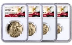 2020-W Gold American Eagle Proof 4-Coin Set NGC PF69 Early Releases w/Eagle Label