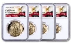 2020-W Gold American Eagle Proof 4-Coin Set NGC PF70 Early Releases w/Eagle Label