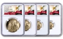 4PC 2020-W $5-$50 GOLD EAGLE NGC PF70 FR EAGLE SET