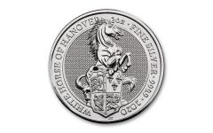 2020 Great Britain £5 2-oz Silver Queen's Beasts White Horse of Hanover BU
