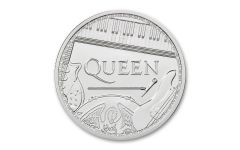 2020 Great Britain £2 1-oz Silver Legends of Music: Queen BU