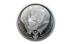 2020 South Africa 1-oz Silver Big 5 Rhino Proof