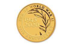 2020 Australia $2 1/2-gm Gold End of WWII 75th Anniversary BU