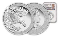 2020 Australia $100 1-oz Platinum Wedge Tailed Eagle Proof NGC PF70UC First Day of Issue w/Mercanti Signature