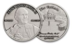 Saint John Paul II 1-oz Silver Commemorative