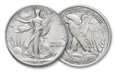 Walking Liberty Half Dollar XF AU