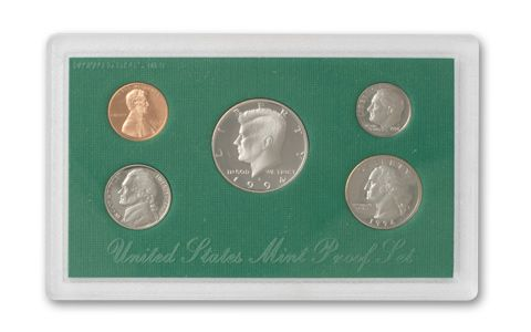 1996 Green Box United States Mint Proof Sets w COA BIRTH YEAR
