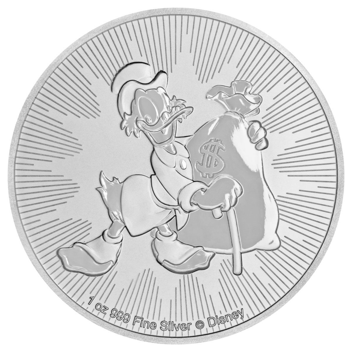 2018 NIUE SILVER $1 DISNEY CHARACTERS SCROOGE McDUCK NGC MS 69 EARLY RELEASES