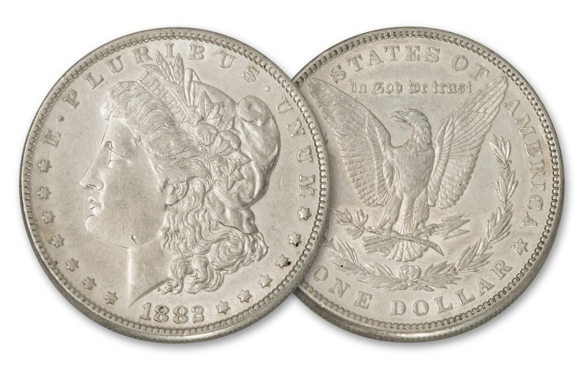 1882 P Morgan Silver Dollar Bu Govmint Com