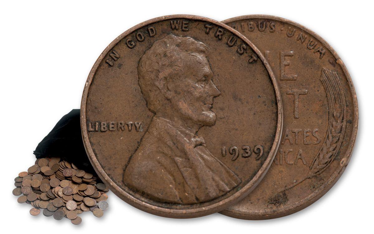 1909-1958 Wheat Pennies G/BU 1 Troy Pound Bag