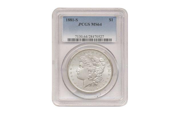 1881-S US Morgan Silver Dollar $1 PCGS MS64