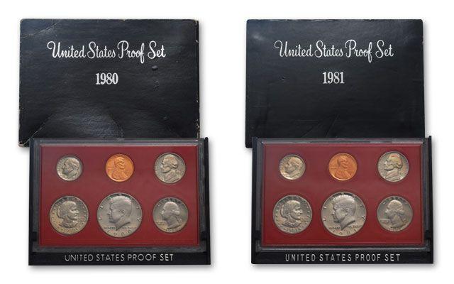 Mint 10 Set 1980 1981 1982 1983 1984 1985 1986 1987 1988 1989 Proof Set U.S