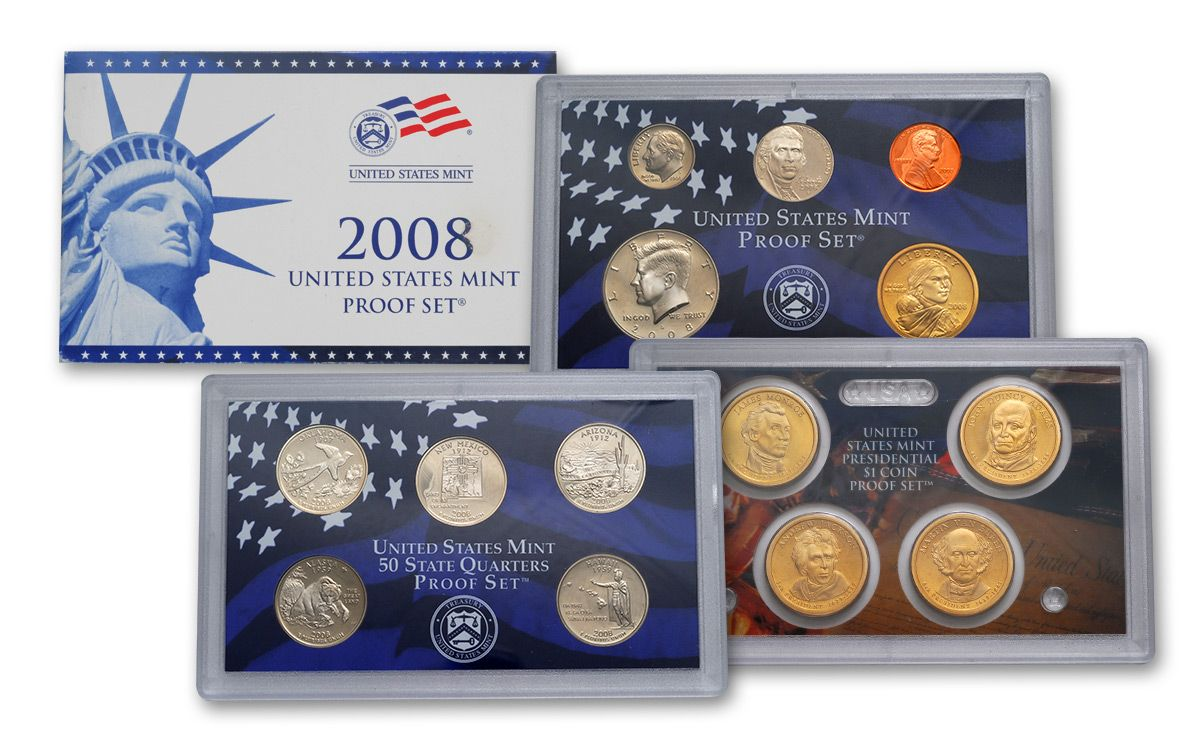 1999-2008 Proof Set Collection no boxes