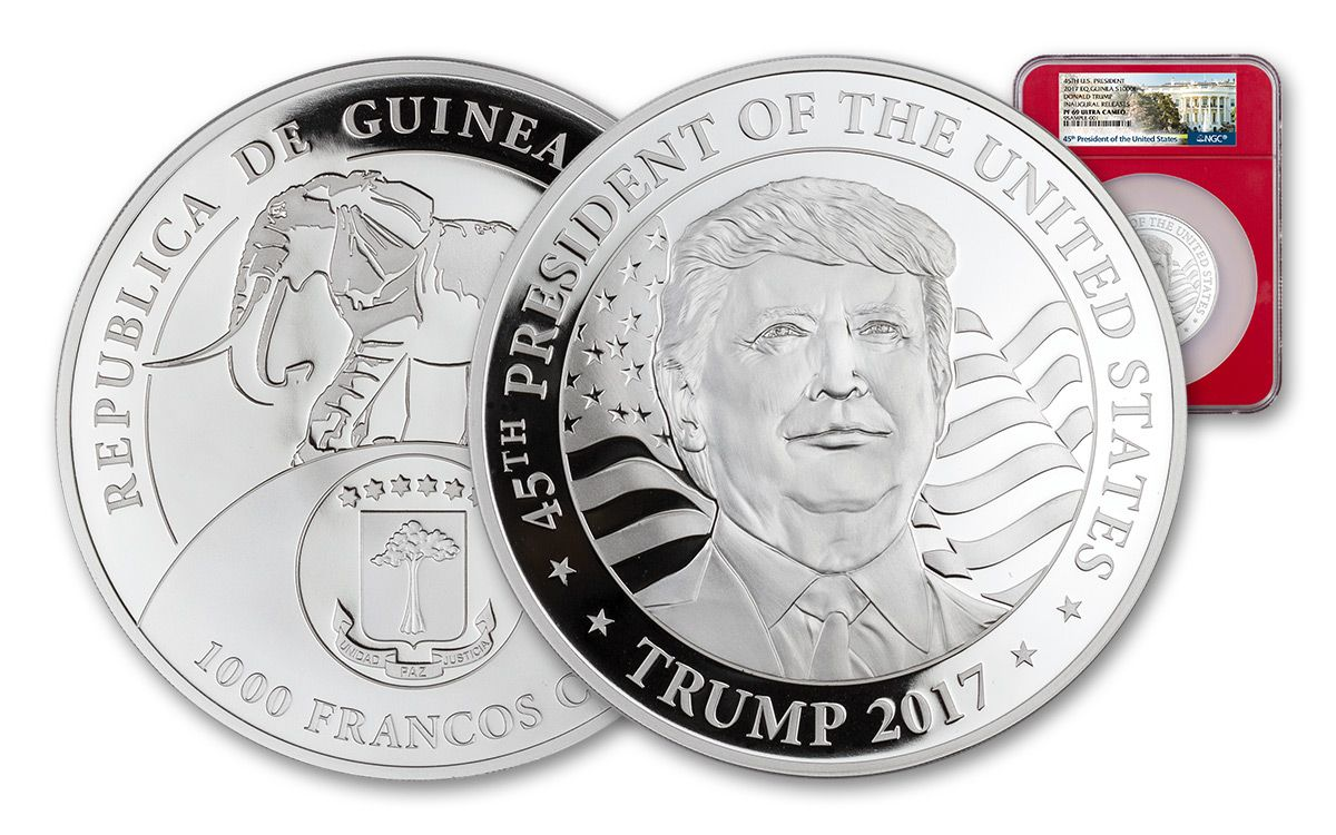999 $25 Proof Uncirculated 2017 DONALD TRUMP PROOF INAUGURAL SILVER DOLLAR COIN $25 1 TROY OZ