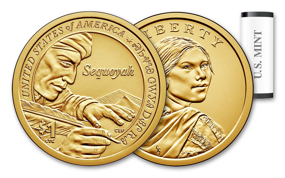 2017 D Native American Sacagawea Dollar 25 Coin Mint Sequoyah-unopened box