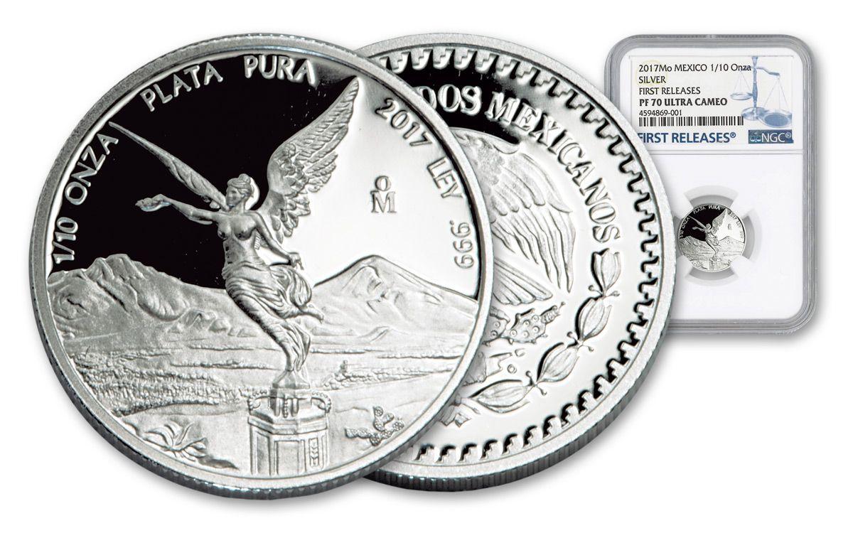 2017 Mexico 1//10 Ounce Silver Coin