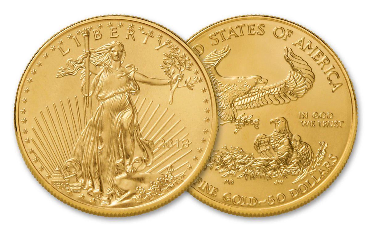 2018 Us 50 Dollar 1 Oz American Gold Eagle Bullion Coin Bu Govmint Com