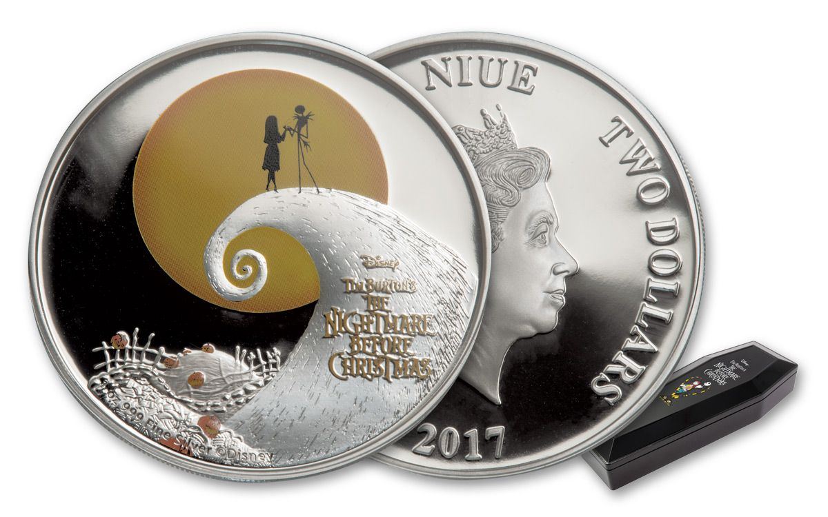 1 Oz Silver Coin Disney Tim Burtons The Nightmare Before Christmas 2020 Australia 2017 1 oz Silver Disney Nightmare Before Christmas Proof