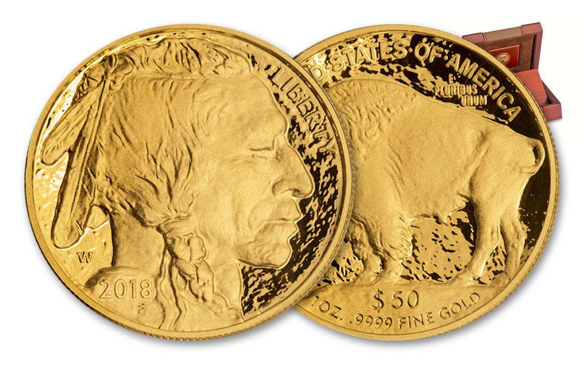 2018 W 50 One Ounce Gold Buffalo Proof