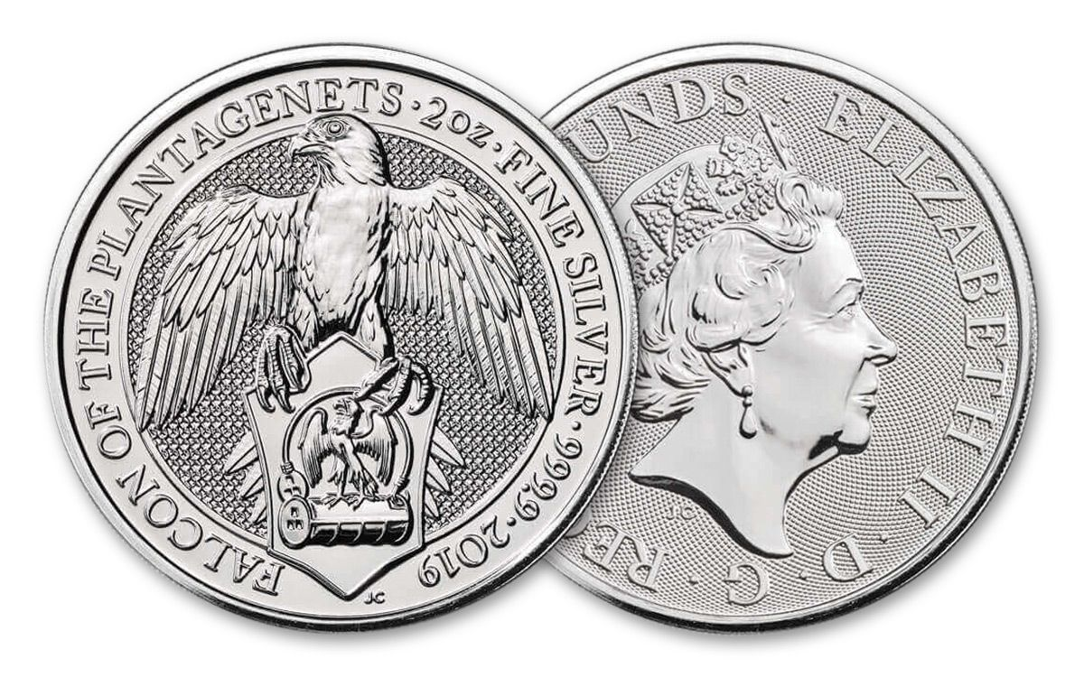 The Falcon 2 oz 2019 Silver Great Britain Queen/'s Beasts