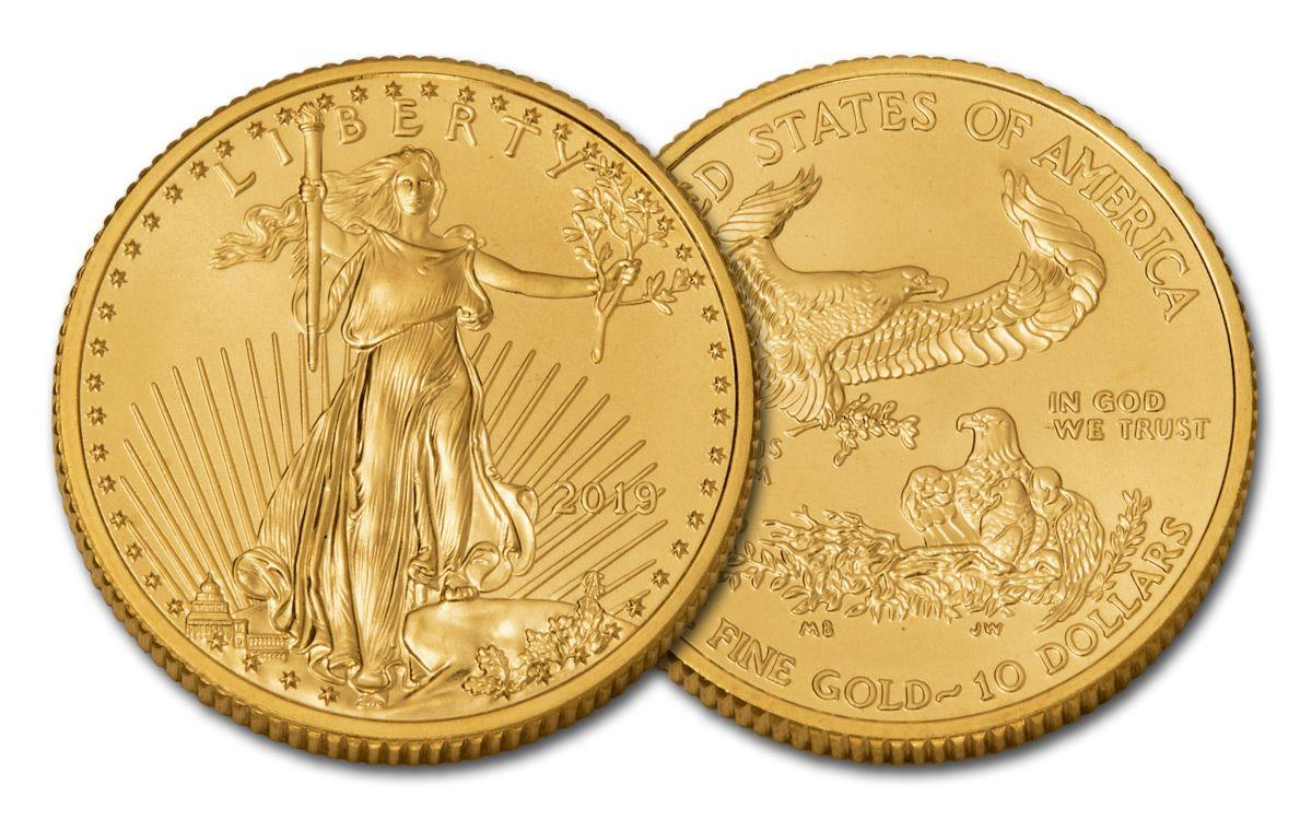 2019 10 Dollar 1 4 Oz Gold Eagle Bu