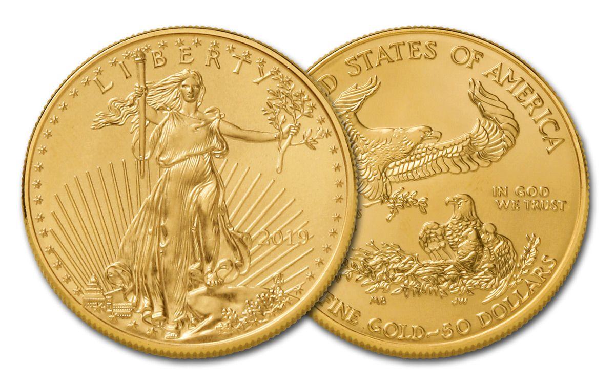 2019 50 Dollar 1 Oz Gold Eagle Bu