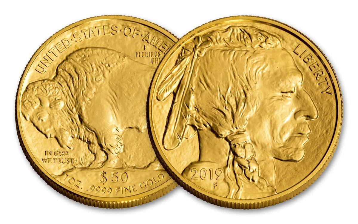 2019 50 Dollar 1 Oz Gold Buffalo Bu