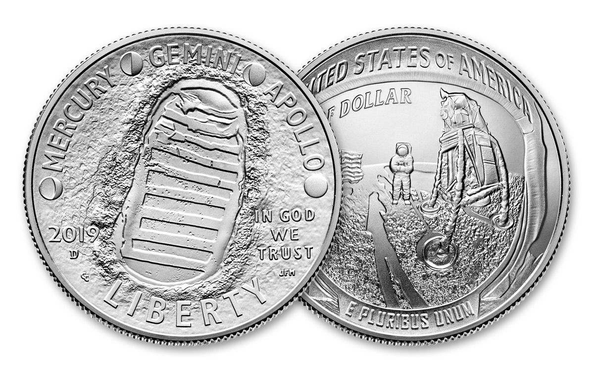 2019 Apollo 11 50th Anniversary Half Dollar Set