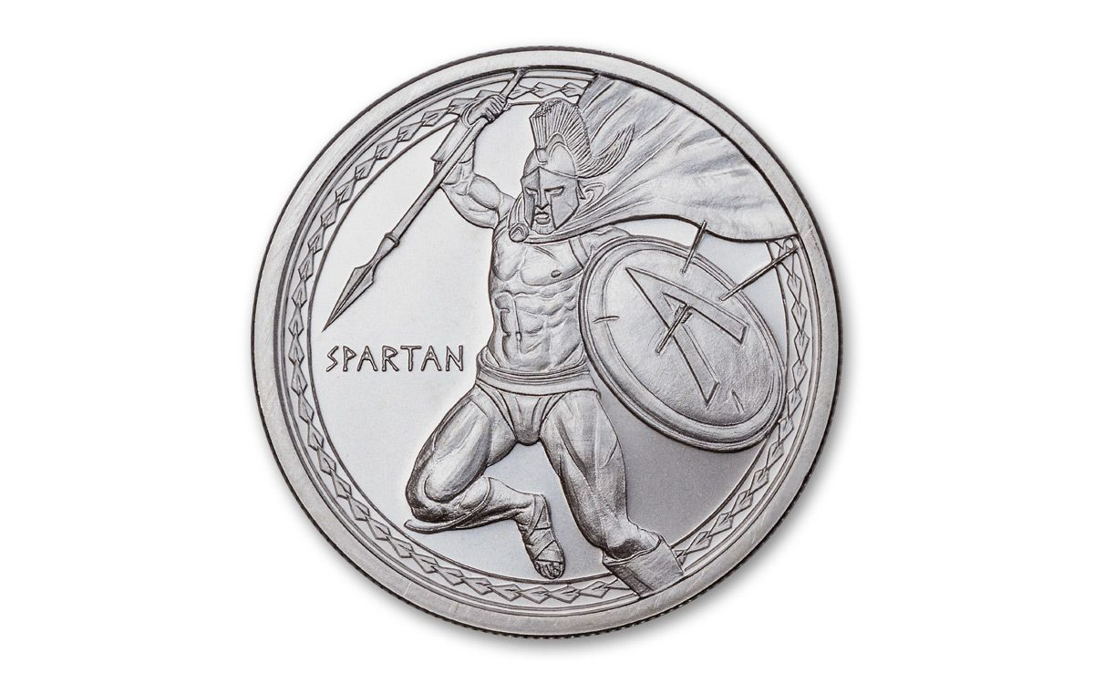 NEW SERIES Spartan 1 oz .999 Silver RoundWarrior Series in capsule!