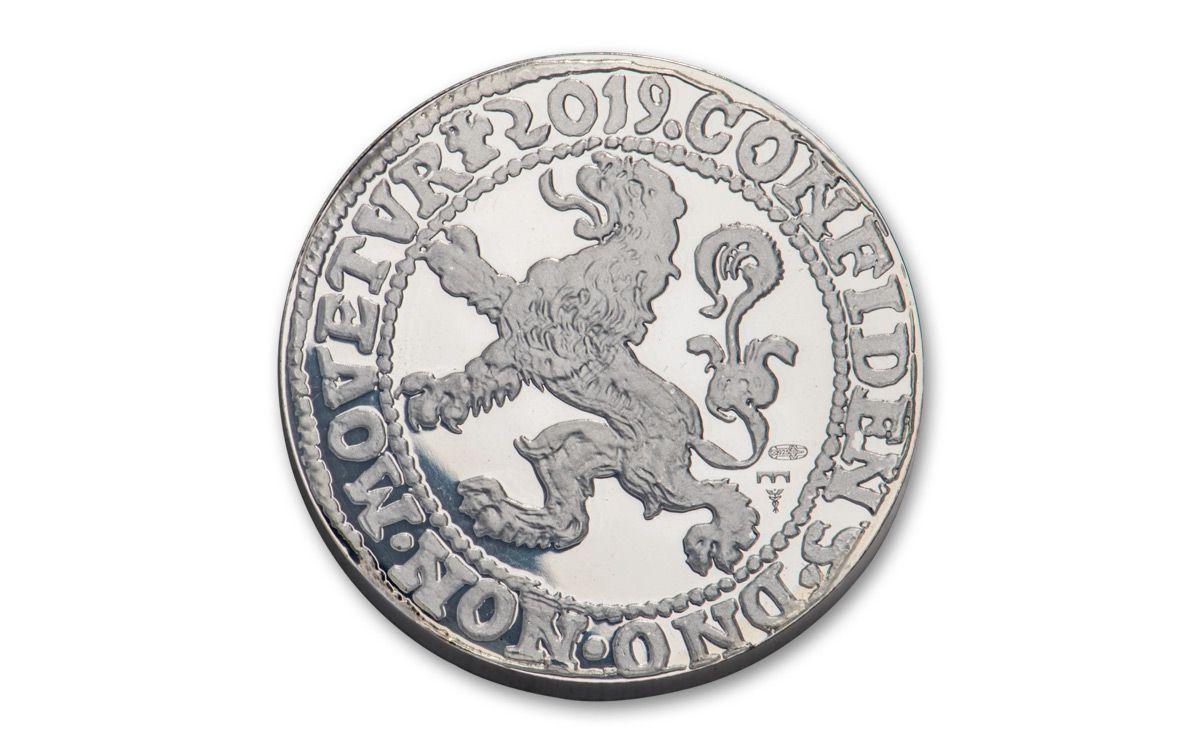 2017 $1 NETHERLANDS LION ✪ SILVER RESTRIKE ✪ 1 OZ DUTCH MINT OZT BU 999◢TRUSTED◣