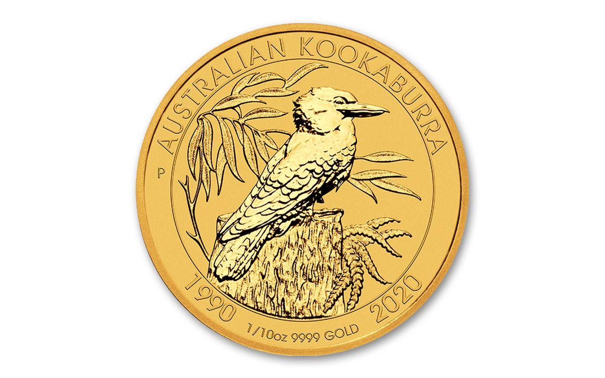 10 Oz Gold 30th Anniversary Kookaburra