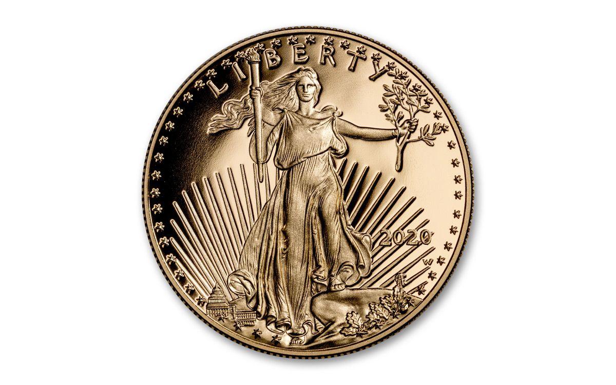2020 American Gold Eagle 1//10 oz $5 Mint Gift Box BU coin in U.S