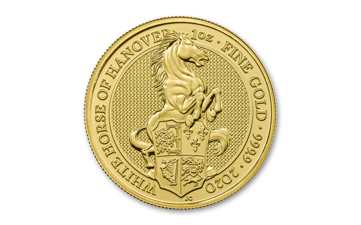 1 Oz Gold Queen S Beasts White Horse
