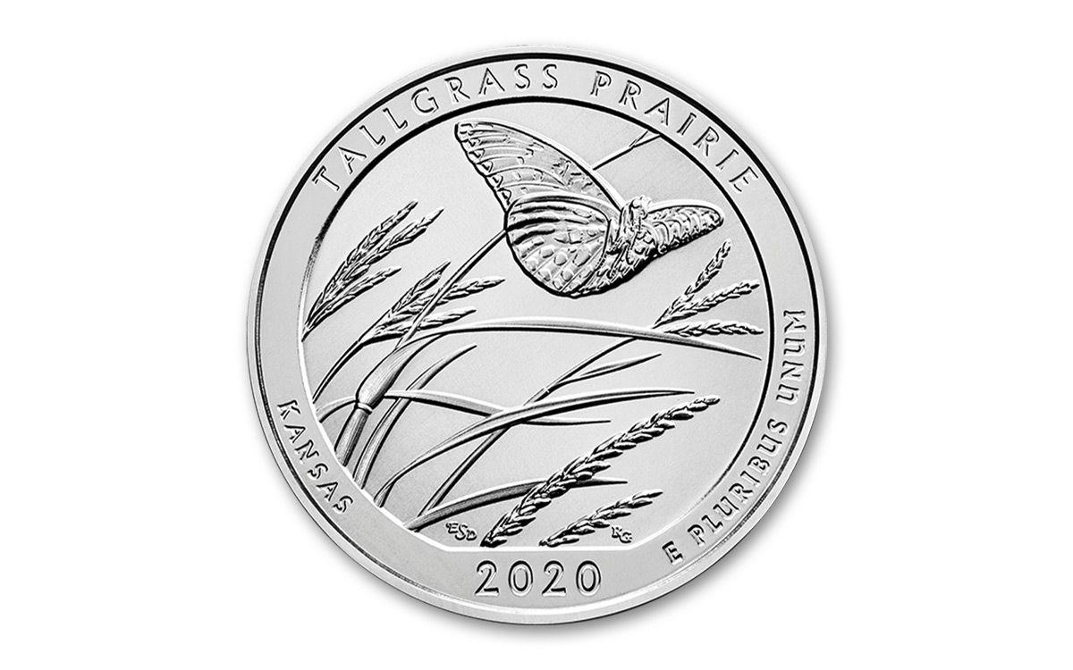 2020 P Tallgrass Prairie ATB Quarter Roll From Mint or Bank BU-Uncirculated